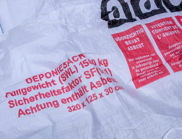 Asbest Plattensack